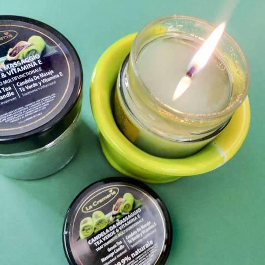 Svijeća masažna zeleni čaj - LuxNatur